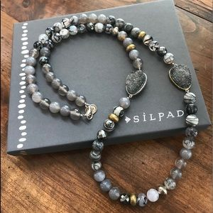 Silpada Ode to Geode Necklace N3096 NWOT